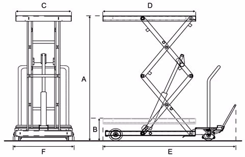Manual scissor lift drawings