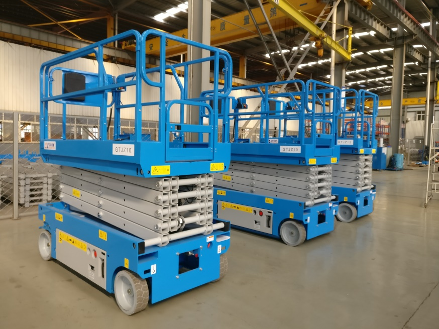 Self propelled scissor lift battery scissor lift