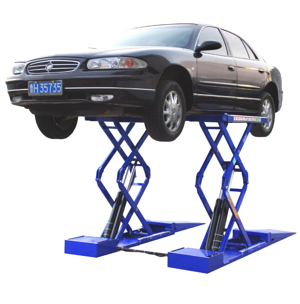 Stationary scissor car lift