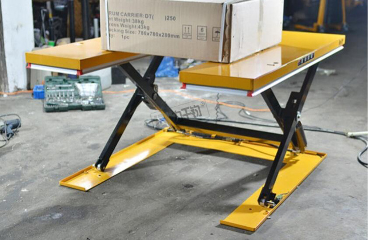 U shaped electric low profile scissor lift